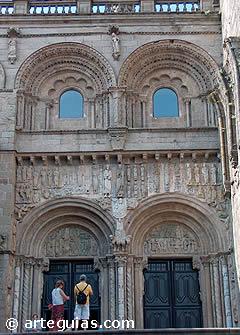 La fin de la route: Santiago (Porte de la porte Les sentiers de la cathédrale)